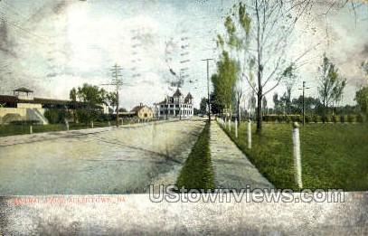 Central Park - Allentown, Pennsylvania PA Postcard