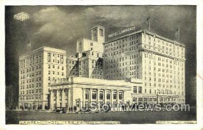 Lawrence Hotel - Erie, Pennsylvania PA Postcard
