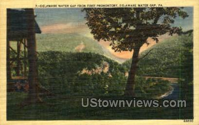First Promontory - Delaware Water Gap, Pennsylvania PA Postcard