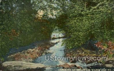 Canoeing - Delaware Water Gap, Pennsylvania PA Postcard