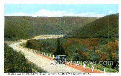 Denton Hill, Roosevelt Highway - Coudersport, Pennsylvania PA Postcard