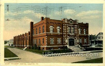 Sixth Regiment Armory - Chester, Pennsylvania PA Postcard