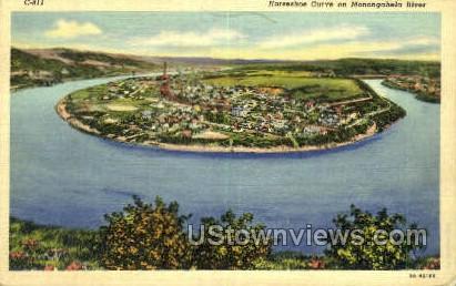Horseshoe Curve - Charleroi, Pennsylvania PA Postcard