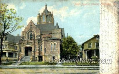 First Baptist Church - Scranton, Pennsylvania PA Postcard