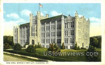 New Home, Woman's Institute - Scranton, Pennsylvania PA Postcard