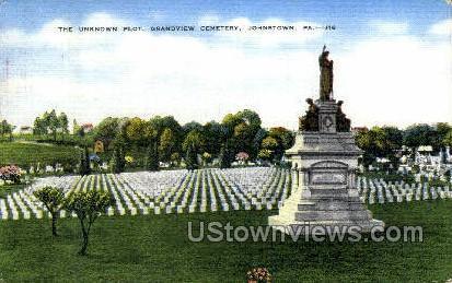 Unknown Plot, Grandview Cemetery - Johnstown, Pennsylvania PA Postcard