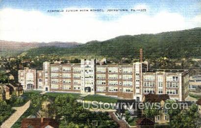 Garfield Junior High School - Johnstown, Pennsylvania PA Postcard