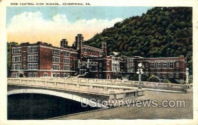 New Central High School - Johnstown, Pennsylvania PA Postcard