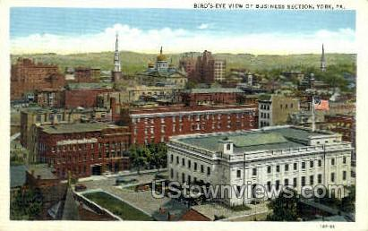 Business Section - York, Pennsylvania PA Postcard