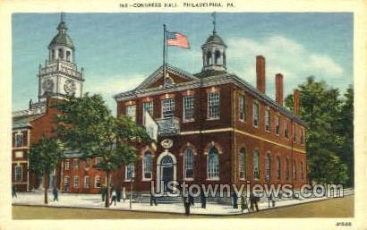 Congress Hall, Philadelphia - Pennsylvania PA Postcard