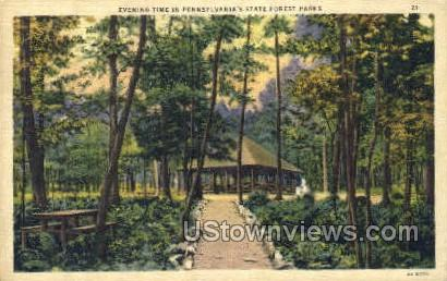 Penn State Forest Parks - Lebanon, Pennsylvania PA Postcard
