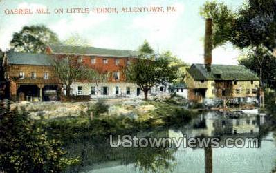 Gabriel Mill on Little Lehigh - Allentown, Pennsylvania PA Postcard