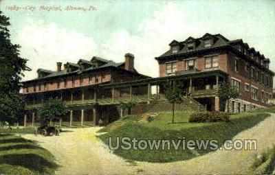 City Hospital, Altoona - Pennsylvania PA Postcard