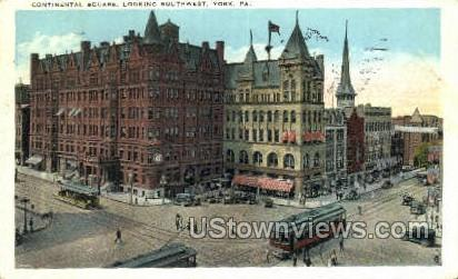 Continental Square - York, Pennsylvania PA Postcard