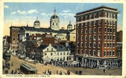 Public Square - York, Pennsylvania PA Postcard