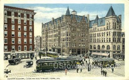 Center Square - York, Pennsylvania PA Postcard