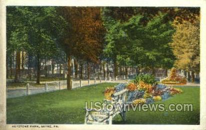 Keystone Park - Sayre, Pennsylvania PA Postcard