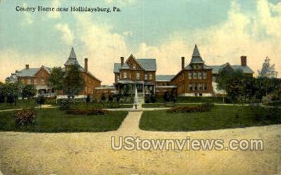 County Home, Hollidaysburg - Pennsylvania PA Postcard