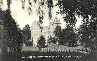 Bucks County Historical Society Bldg - Doylestown, Pennsylvania PA Postcard