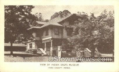 Indian Steps Museum - York, Pennsylvania PA Postcard