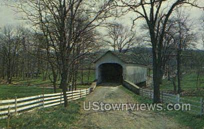 Knecht's Covered Bridge - Bucks County, Pennsylvania PA Postcard