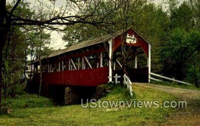 Trostletown Bridge - Johnstown, Pennsylvania PA Postcard
