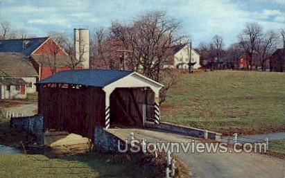 Landis Mill Bridge - Pennsylvania PA Postcard
