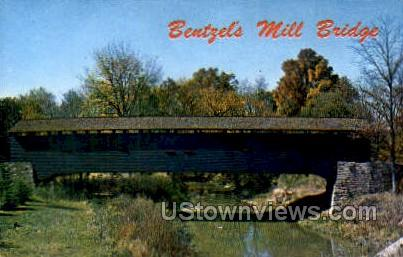 Bentzel's Mill Bridge - York, Pennsylvania PA Postcard