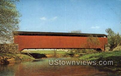 The Old Covered Bridge - Lancaster, Pennsylvania PA Postcard