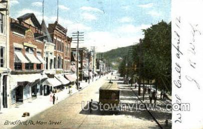 Main Street - Bradford, Pennsylvania PA Postcard