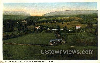 Trolley Line - Delaware Water Gap, Pennsylvania PA Postcard