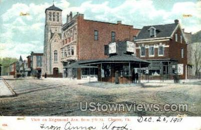 Edmond Ave. - Chester, Pennsylvania PA Postcard