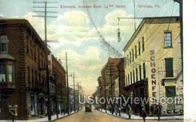 Eleventh Ave. - Altoona, Pennsylvania PA Postcard
