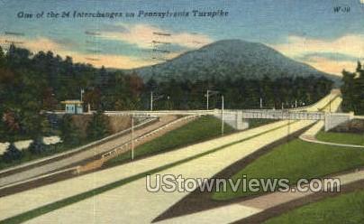 24 Interchanges - Turnpike, Pennsylvania PA Postcard