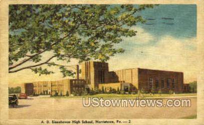 A.D. Eisenhower High School - Norristown, Pennsylvania PA Postcard