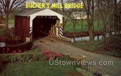 Bucher's Mill Bridge - Lancaster, Pennsylvania PA Postcard