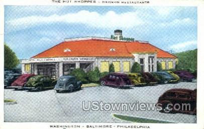 The Hot Shoppes - Washington, Pennsylvania PA Postcard