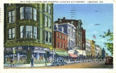 Cumberland Street - Lebanon, Pennsylvania PA Postcard