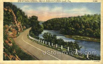 Swatara Creek - Indiantown Gap, Pennsylvania PA Postcard
