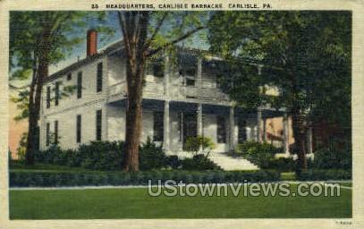 Headquarters, Carlisle Barracks - Pennsylvania PA Postcard