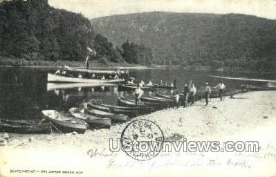 Boatlanding - Delaware Water Gap, Pennsylvania PA Postcard