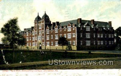 Berk Hall, Muhlenberg College - Allentown, Pennsylvania PA Postcard