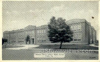 Phineas Davis Junior High School - York, Pennsylvania PA Postcard