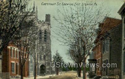 Chestnut St.  - Lebanon, Pennsylvania PA Postcard