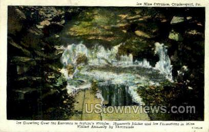 Mammoth Icicles & Formations - Coudersport, Pennsylvania PA Postcard
