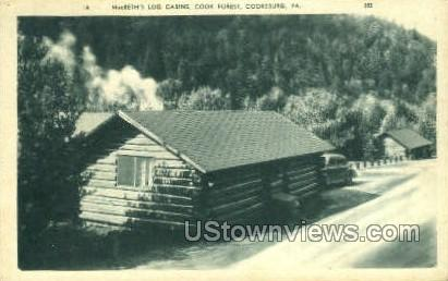 MacBeth's Log Cabins, Cook Forest - Cooksburg, Pennsylvania PA Postcard