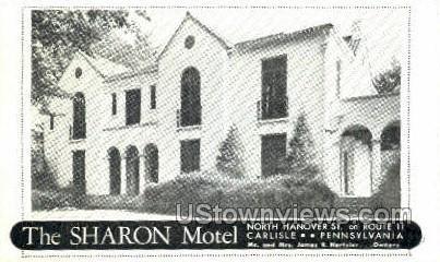The Sharon Motel - Carlisle, Pennsylvania PA Postcard