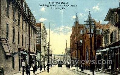 Eleventh Street, Post Office - Altoona, Pennsylvania PA Postcard