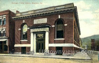 Carnegie Public Library - Bradford, Pennsylvania PA Postcard