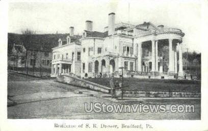 Residence of S.R. Dresser - Bradford, Pennsylvania PA Postcard